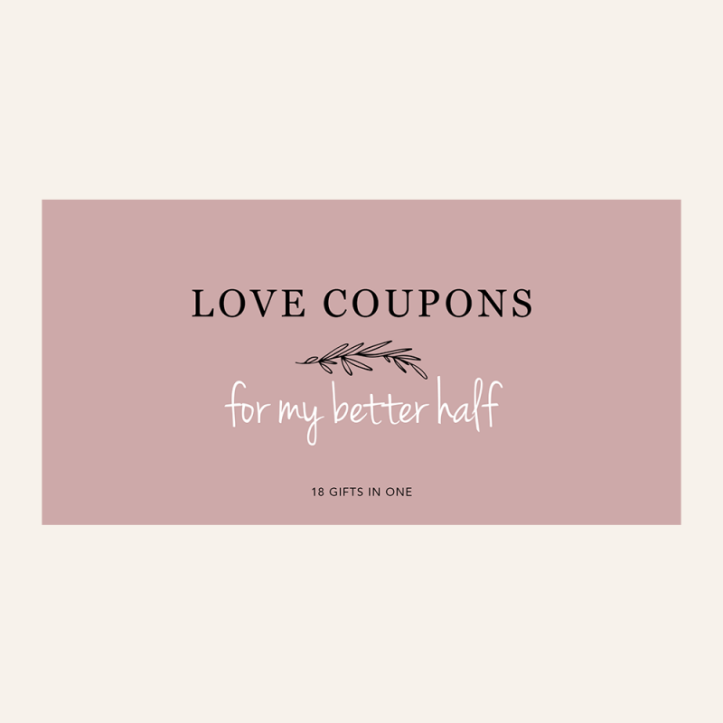 Love Coupons For Your Better Half - 18 Gifts In One. Gifts for Couples. Gifts For Long Distance Relationships. Valentine's Day Gifts. Christmas Gift Ideas For Couples. Love Coupon Book. image 0 image 1 image 2 image 3 image 4 Fun Love Coupon Book. Gifts For Boyfriend. Gifts For Girlfriend. Gifts For Husband. Gifts For Wife. Printable Coupons for Boyfriend / Girlfriend. Anniversary. DIY. PDF. Elephant on the Road.
