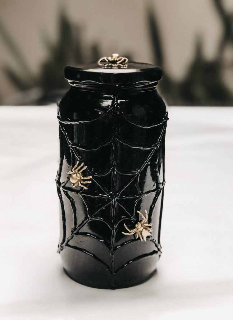 Halloween DIY: Spider Web Candy Jar